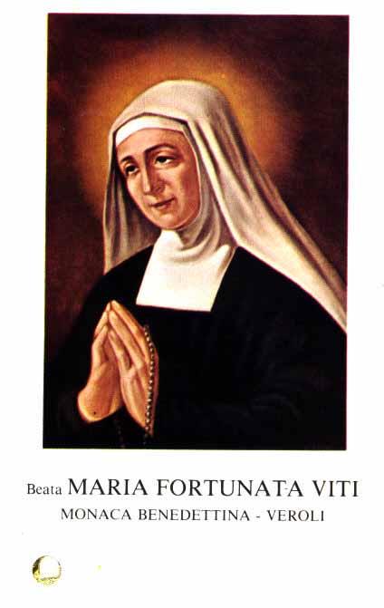 sveta Marija Fortunata - šivilja in redovnica